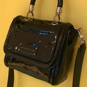Marc Jacobs Black Patent Cow Leather Crossbody Bag